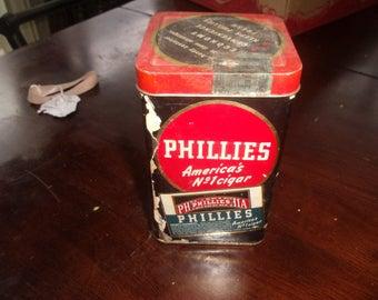 vintage advertising tin phillies cigar