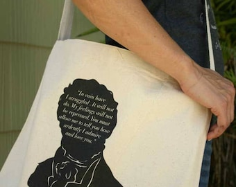 Summer Tote Bag Mr Darcy Proposal - Pride and Prejudice Quote - Bookish - Teacher Appreciation - JAB001