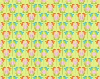 C5504 Green Birds, Happier by Deena Rutter for Riley Blake