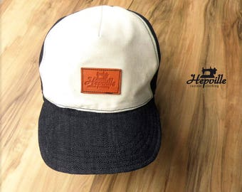 Trucker Baseball Work Cap  - Selvedge Denim - Single Piece