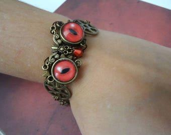 Steampunk vampire Hibou/Owls bracelet