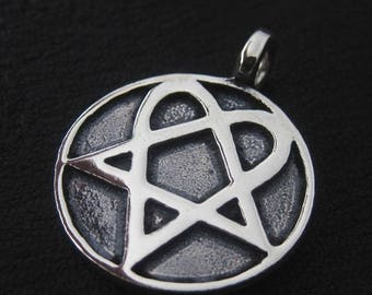 Silver Heartagram pendant