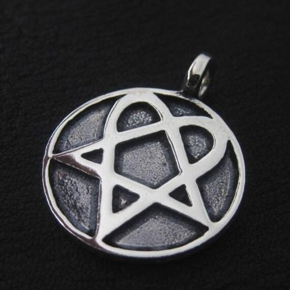 Silver heartagram pendant details a heartagram pendant aloadofball Choice Image