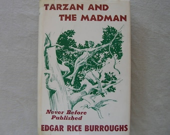 "Vintage 1964 1st Edition ""Tarzan And The Madman"" by EDGAR RICE BURROUGHS"