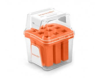Orange Metal Stamp Block Holder, Metal Stamp Storage Container, Use with ImpressArt 6mm stamps, fits 9 stamps up to 10mm square, tol0809
