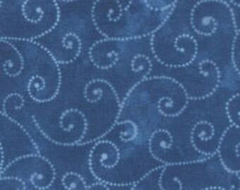 Marble Swirls - Moda Basics - Royal Blue - Moda 9908 24