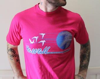 Vintage Hawaii Souvenir Graphic T-Shirt Size Large 1980s