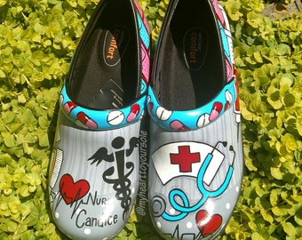 Painted Clogs (Not Dansko Brand)