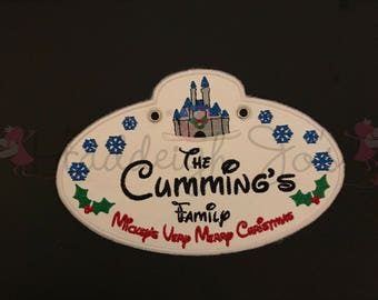 Christmas MVMCP Cast Member badge ID Stroller or Scooter personalized tag