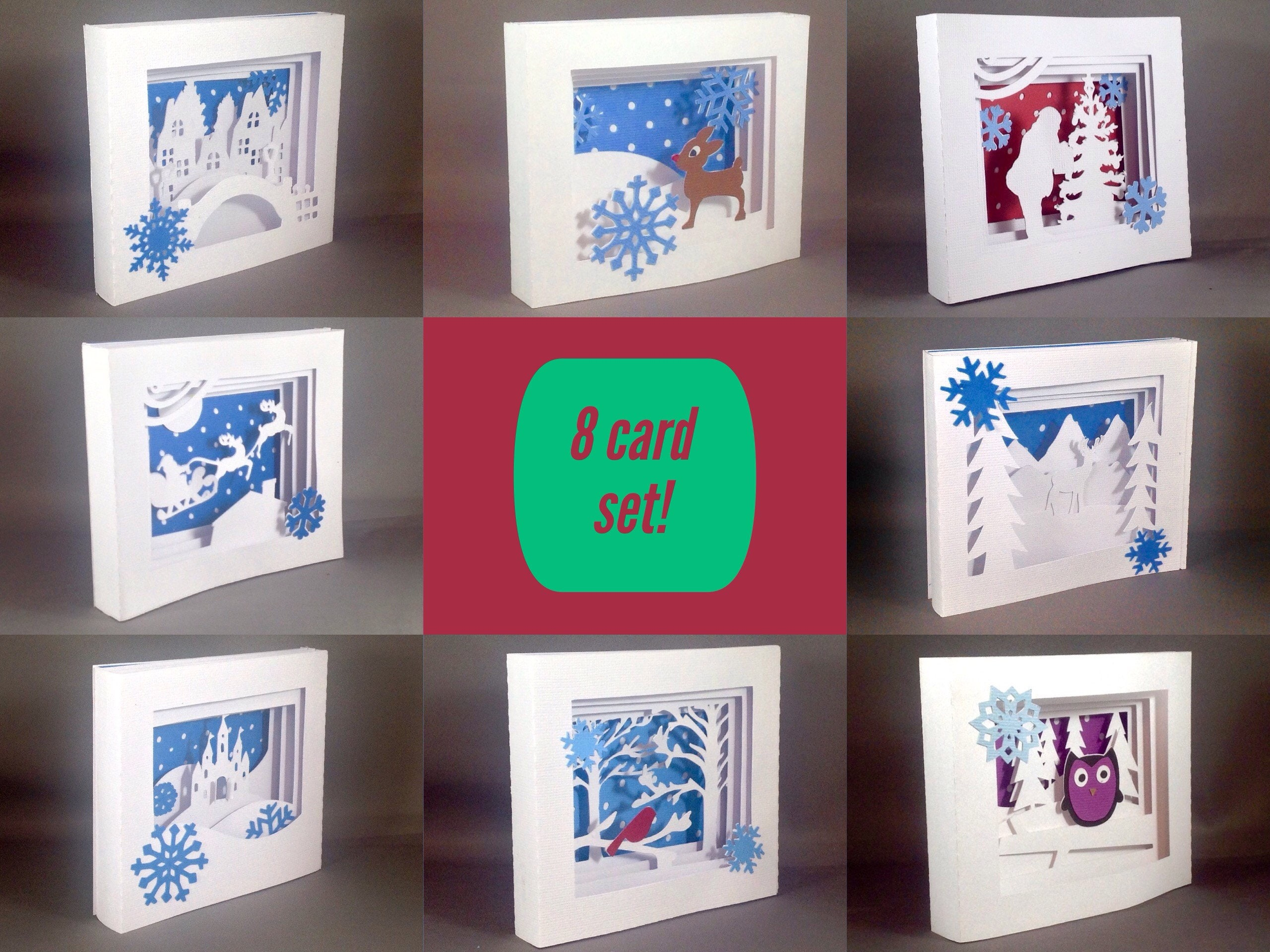 Christmas Card Set Pack Of Have A Good Day Quotes Seasons Greetings Png
