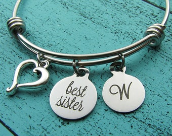 sister bracelet, best sister gift, Christmas birthday gift for sister jewelry, Always my sister forever my friend, wedding gift for sister