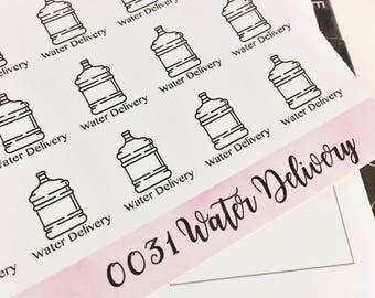 0031 Water Delivery Water Jug Functional Sheet of Stickers Planner Stickers Erin Condren Life Planner Happy Planner