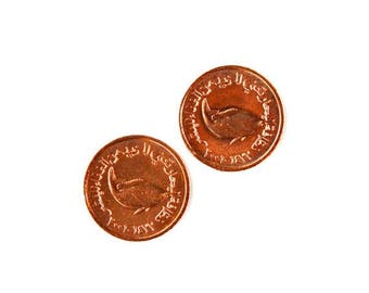 Limited Time Offer UAE Coin Cufflinks - Men's Jewelry - Handmade - Gift Box Included