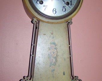 Vintage Sessions Tan Halifax Pendulum Banjo Clock