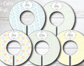 Baby Closet Dividers - Jungle Baby Pastels