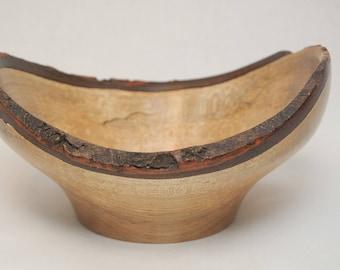Handmade Live Edge Spalted Maple Bowl
