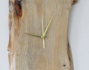 Handmade wooden clock with silent mechanism (No.3)