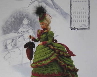 Annie's Attic Calendar Victorian Lady Centennial Miss January 1993 Fashion Bed Doll Crochet Pattern original no copy