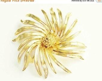 ON SALE Chrysanthemum Flower Brooch 1960s D'Orlan Boucher