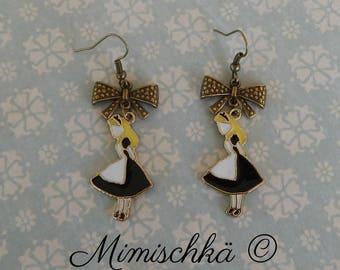 earrings alice in wonderland black dress
