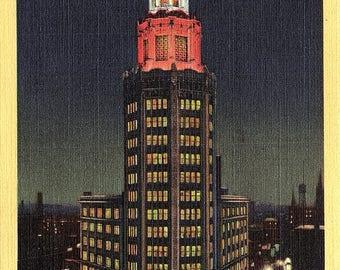 Buffalo, New York, Electric Building, Night - Vintage Postcard - Postcard - Unused (LL)