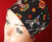 Day of the Dead Pups Skull Cap (biker/chemo/surgical)