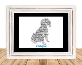 Cockapoo, Custom Cockapoo, Personalize Cockapoo, Cockapoo Art Print, Cockapoo Memorial, Pet Gift, Print, Dog Art, Pet Memorial, Custom Dog