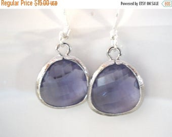 SALE Purple Earrings, Silver Earrings, Tanzanite, Amethyst Earrings, Bridesmaid Earrings, Bridal Earrings Jewelry, Bridesmaid Gifts