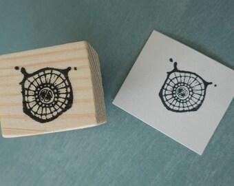 Radial Splat Mounted Rubber Stamp