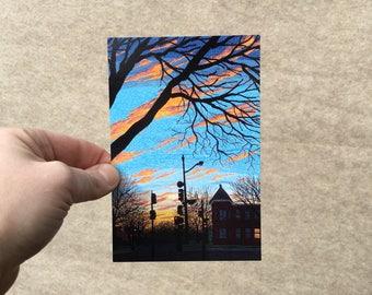 "Postcard ""Winter's End"", 4x6 inches, high gloss, UV protection, professionally printed, Washington DC postcard"