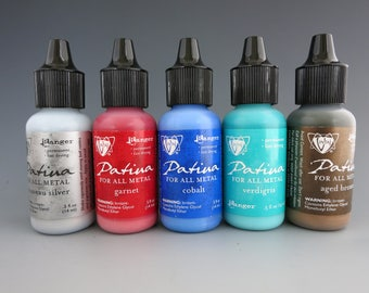 Vintaj Patina Paint, Opaque Ink for Metal, Choice of Colors, Fast Drying, Water Soluble, .5 ounce bottle