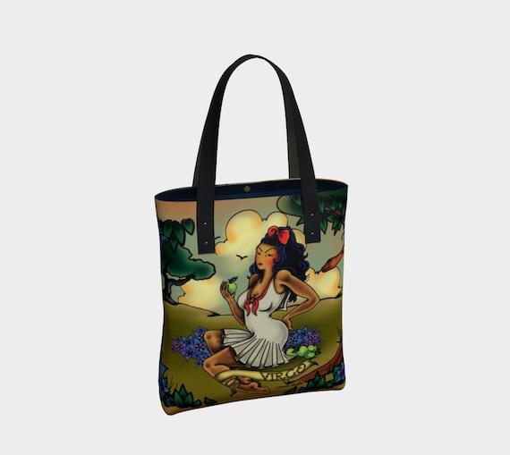 Virgo -Tattoo Premium Tote Bag
