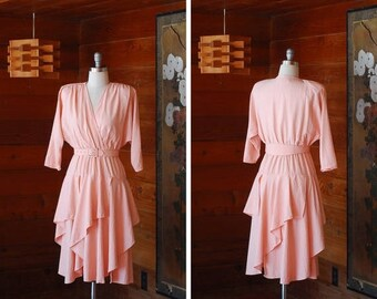 50% OFF SALE / vintage pink rayon dress / size small medium