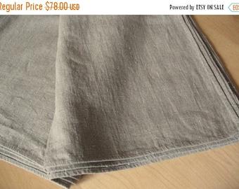 "Tablecloth Wedding Tablecloth Linen Tablecloth Burlap Tablecloth Washed Linen 56"" x 91"""