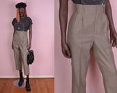 VTG Gingham High Waisted Trousers/ 27.5 Waist/ Pants