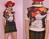 VTG Artwork Shirt/ Small/ Vintage/ Short Sleeve/ Top