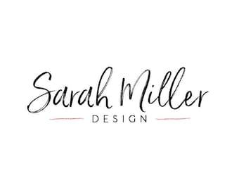 Handwritten Style Logo and Watermark - Photography Premade Customizable Logo Design