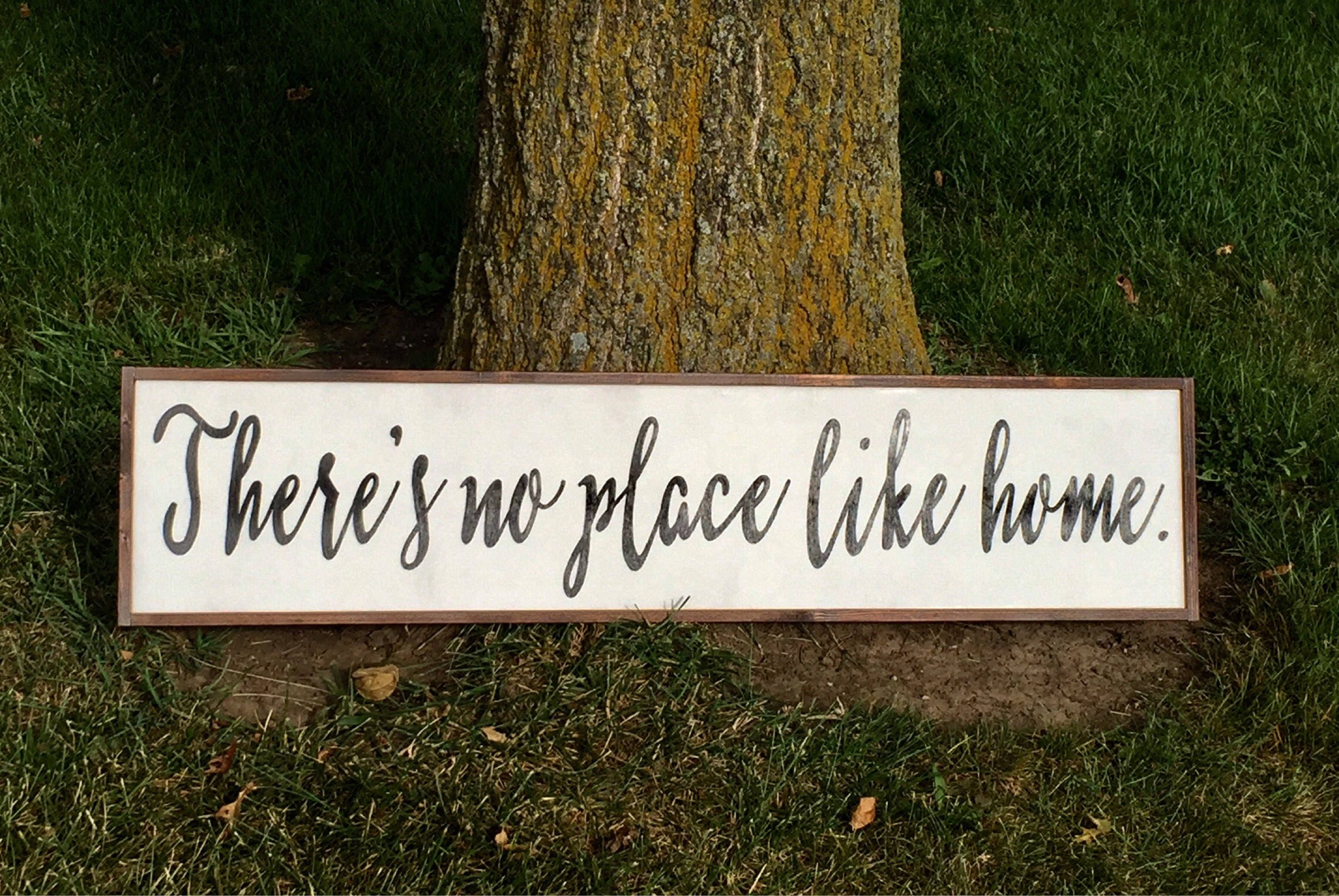 Theres No Place Like Home Sign Hand Painted Wall Art No Place