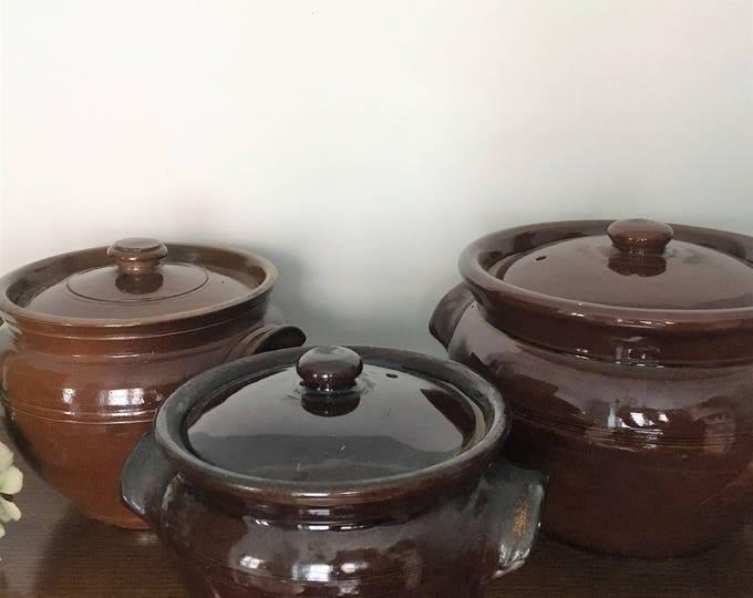 Brown Earthenware Tureens