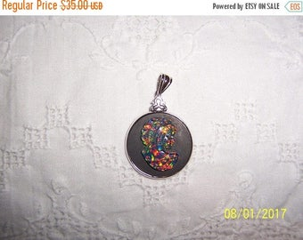 TWICE A YEAR, 25% Off Vintage Opal Like cameo pendant. Sterling silver.