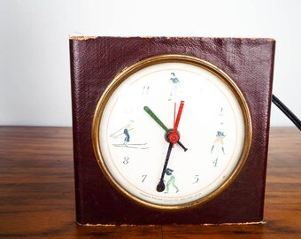 Vintage Rare Herman Miller Sports Mantel Electric Clock, Small Art Deco Home Mantle Decoration, One of a Kind Housewarming Gift Ideas