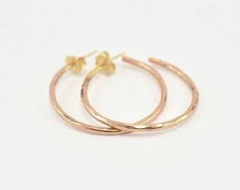 Hoop Earrings with Posts