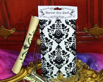 Ancient Sea Spell Ritual Spell Kit with Scroll Glass Vial Coin Instructions For Return of Lover CURIO