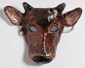New Year calf paper mask