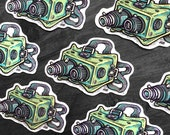 Ecto Goggles - Ghostbusters Waterproof Sticker Decal - FREE US SHIPPING