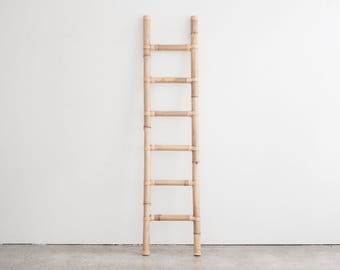 Vintage Bamboo Display Ladder