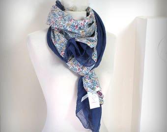 Scarf shawl stole soft LIBERTY Wiltshire double 180 cm x 60 cm