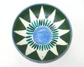 Vallauris TAPIS VERT Poterie Dish - Rare Picasso Interest Signed Mid Century Art Pottery Hand Painted France