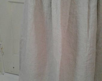 Hand Sewn Petticoat 18th Century Style - Osnabrig Unbleached Linen