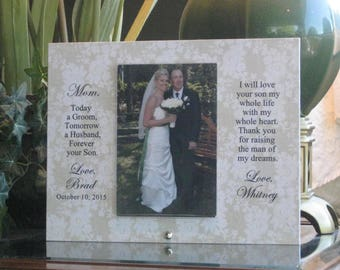 Mother of Groom gift from Bride, Mother of the Groom gift from Bride, Personalized Picture Frame, Custom Photo Frame,  Wedding, 4x6 photo